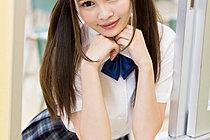 Cutie Student Atomi Shuri In Uniform Pulling Her Panties Down