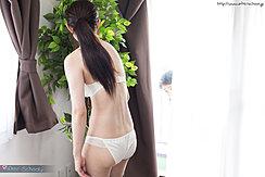 Wakatsuki Maria In Bra And Panties Hair In Ponytail