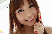 Cute Shaved Teen Mikuru In Pink Bikini Skipping With Rope