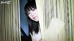Machiko Looking Through Curtains Long Hair