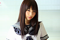 Shaved Kogal Minami H Stripping Uniform In Classroom