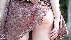 Pulling Dress Over Her Ass