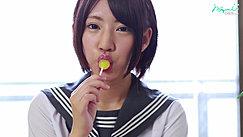 Short Haired Kogal Sucking Lollipop