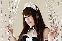 Japanese maid Tsubasa Sakurai stripping uniform
