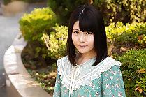Small tits cutie Mai Araki strips dress and poses nude