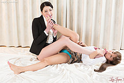 Tutor And Student Licking Bare Feet