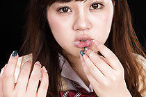 Student Yamamoto Erena sucks thick cock takes cum in her mouth