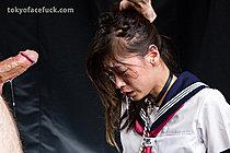 Kogal Yamada Reika Gagging On Cock In Her Uniform