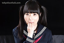Pretty kogal Himeno Miku face fucked and masturbating with toy
