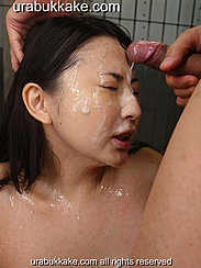 Megumi With Bukkake Cumshot Covered Face Man Shooting His Cum Over Her Face
