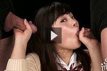 Student Yamamoto Erena Sucking Two Cocks In Uniform